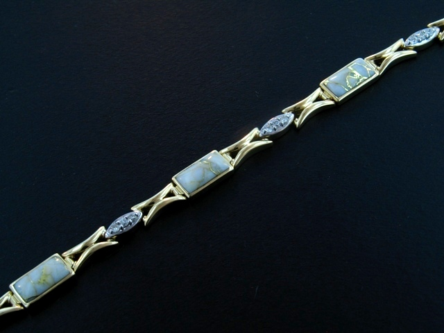 14KY Glacier Gold & Diamond Bracelet