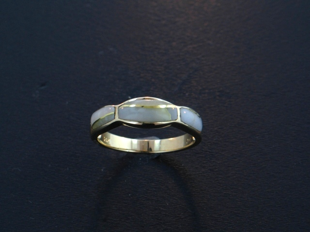 14KY Glacier Gold Ring